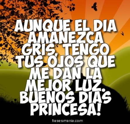 Una verdadera am   Buenos Dias Princesa Frases