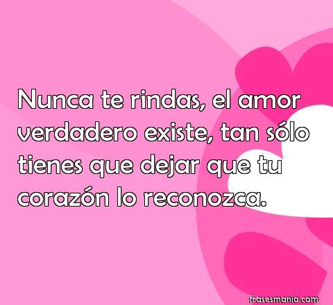 Nunca Te Rindas El Amor Verdadero Existe Frases