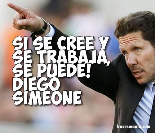 Frase de Diego Simeone