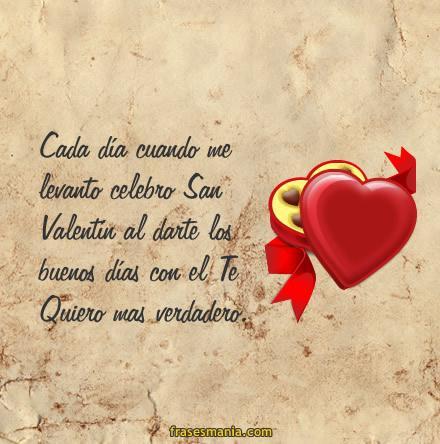 Buenos días en San Valentín