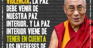 Frase sobre la paz del Dalai Lama